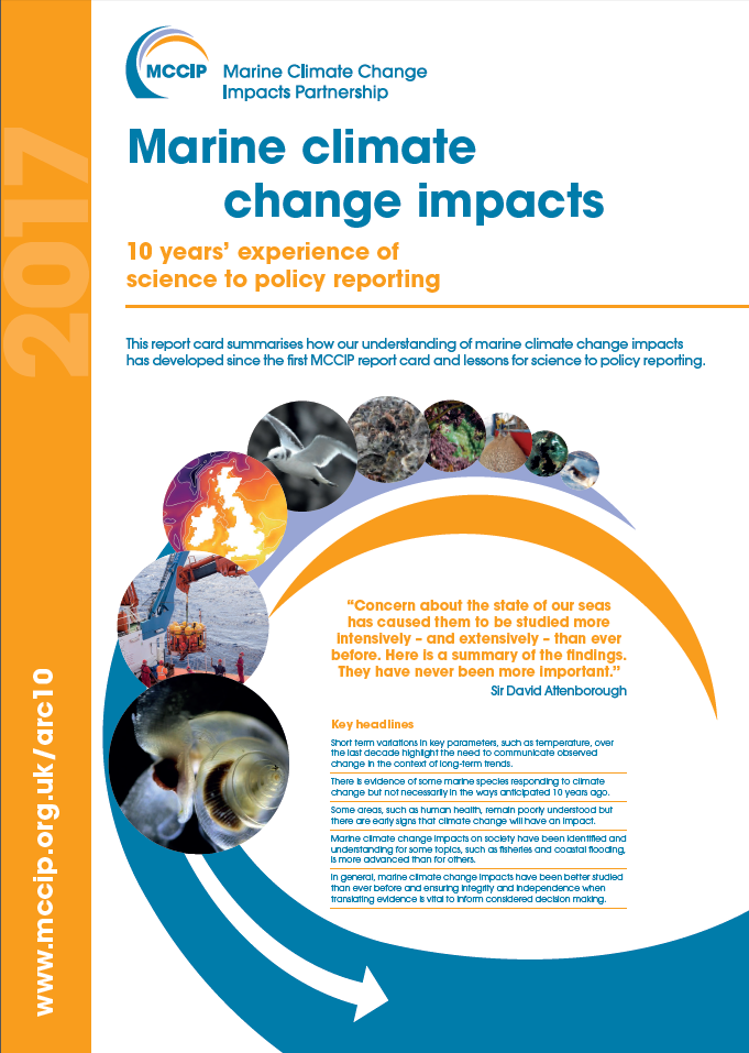Impacts of marine climate change demonstrated by decade of